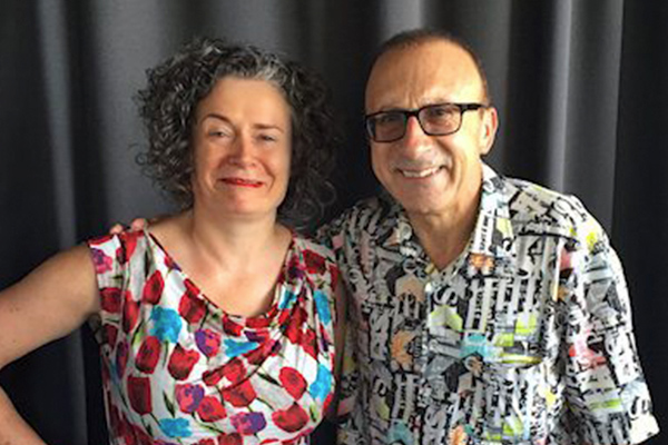 Elliot Goblet Comedian Melbourne and Judith Lucy
